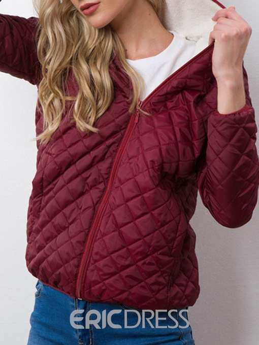 Ericdress Loose Zipper Standard Cotton Padded Jacket