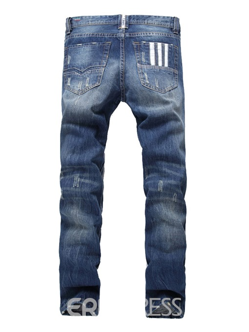 Ericdress Plain Straight Mens Casual Jeans