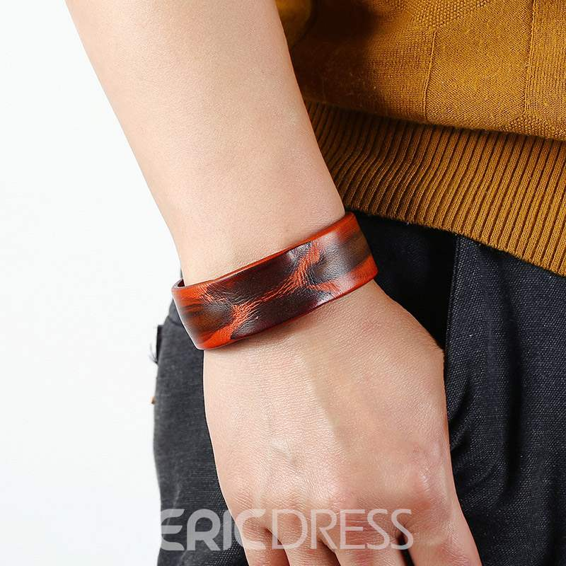 Ericdress Leather Leopard Print Bracelet
