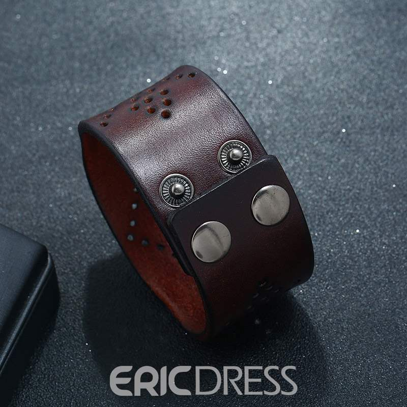 Ericdress Leather Hollow Out Bracelets