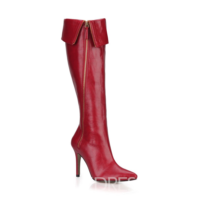 Ericdress Pointed Toe Stiletto Heel Side Zipper Women's Boots