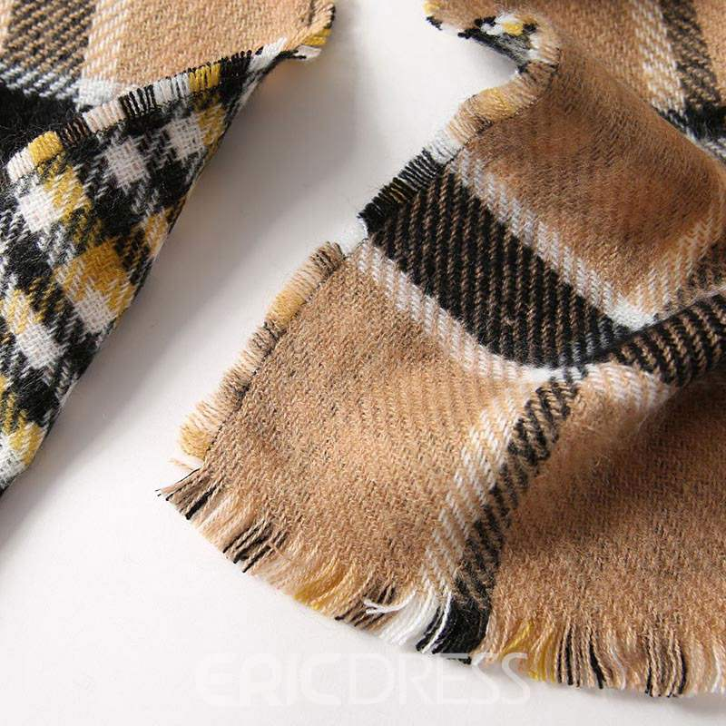 Ericdress Imitation Cashmere Grid Scarf