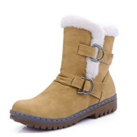 Ericdress Patchwork Block Heel Women's Winter Boots