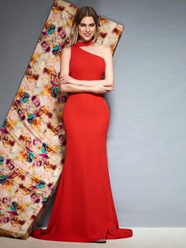 Ericdress Halter Red Mermaid Evening Dress