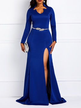 Ericdress Long Sleeves Split Floor-Length Dress