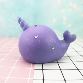 Ericdress Purple Fantasy Arwhal Decoration