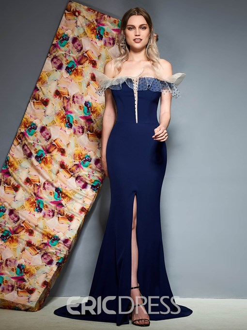 Ericdress Off The Shoulder Mermaid Evening Dress 2019