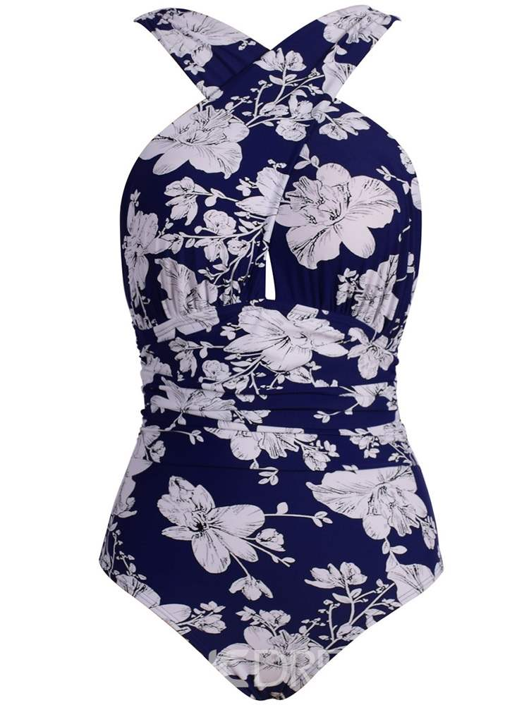 Ericdress Floral Print One Piece Swimwear