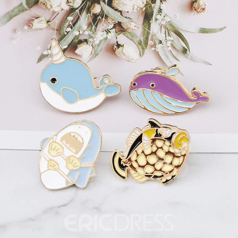 Ericdress Narwhal Brooches