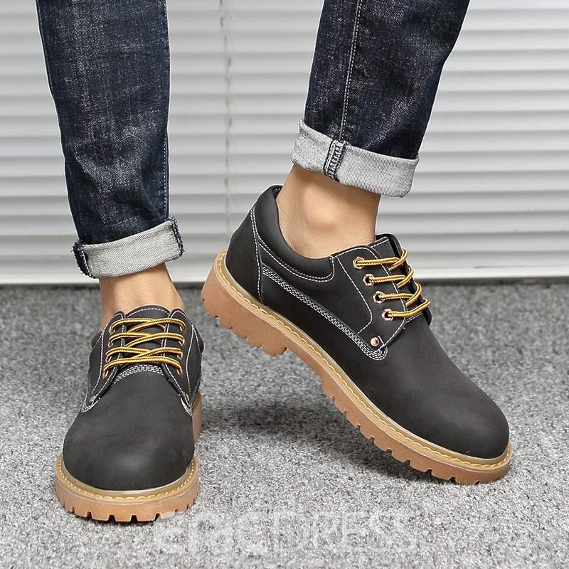 Ericdress Plain Low-Cut Upper Lace-Up Men's Shoes