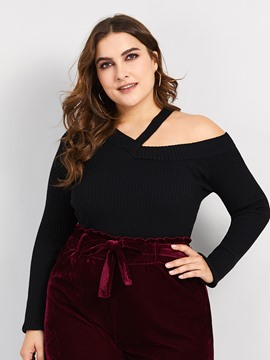 Ericdress Regular Single Plus Size Sweater