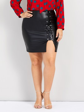 Ericdress Plus Size Split Bodycon Casual High Waist Skirt