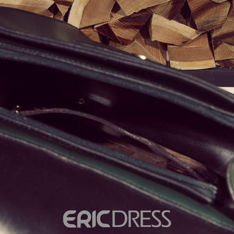 Ericdress Thread Plain PU Medium Backpacks
