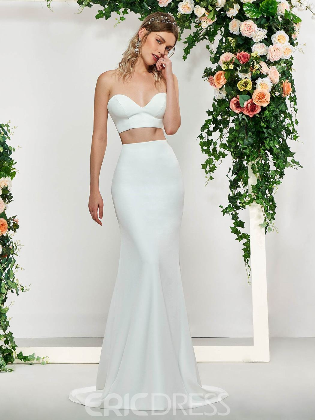 Ericdress 3 Pieces Mermaid Wedding Dress 2019