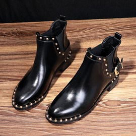 Ericdress Rivet Elastic Patchwork Pointed Toe Women's Boots