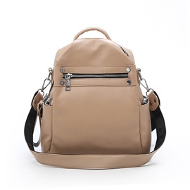 Ericdress PU Plain Thread Backpacks