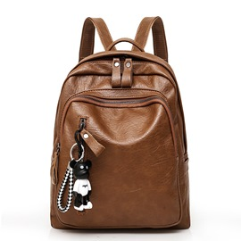 Ericdress Casual Plain Thread PU Backpacks