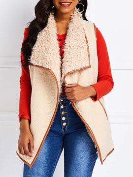 Ericdress Patchwork Wrapped Color Block Mid-Length Winter Vest