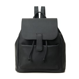 Ericdress Plain PU Soft Backpacks