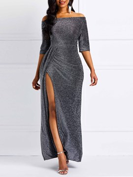 Ericdress Off-The-Shoulder Split Party Dress