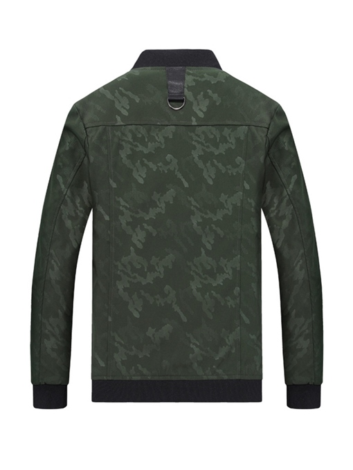Ericdress Camouflage Printed Stand Collar Mens Casual Jacket