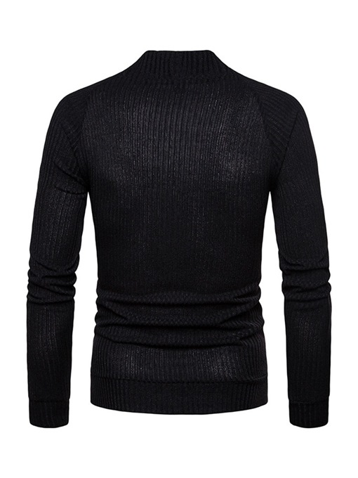 Ericdress V-Neck Plain Single-Breasted Mens Casual Slim Sweater
