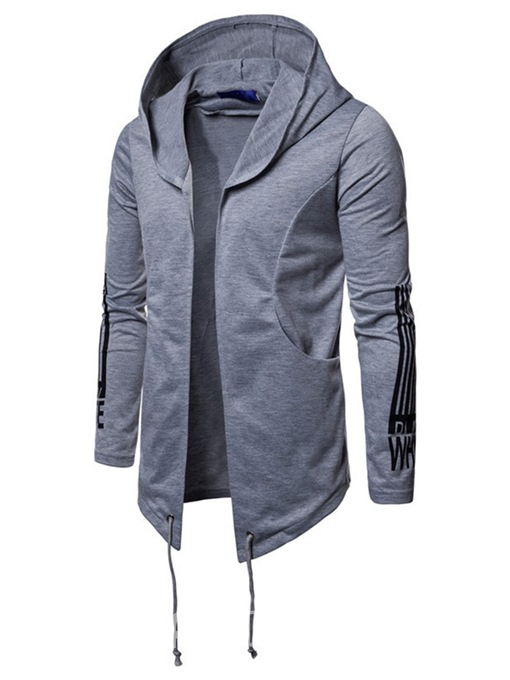 Ericdress Printed Lace Up Hooded Mens Cardigan Hoodies