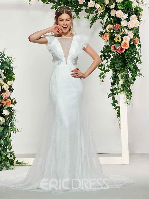 Ericdress Sleeveless Court A-Line Wedding Hall Dress 2019