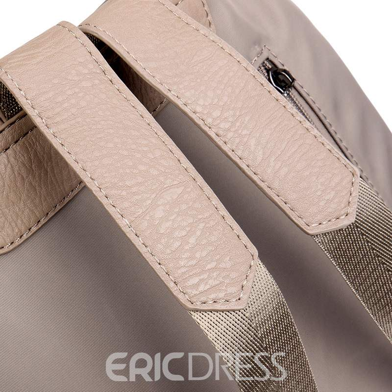 Ericdress Plain Thread Nylon Backpack