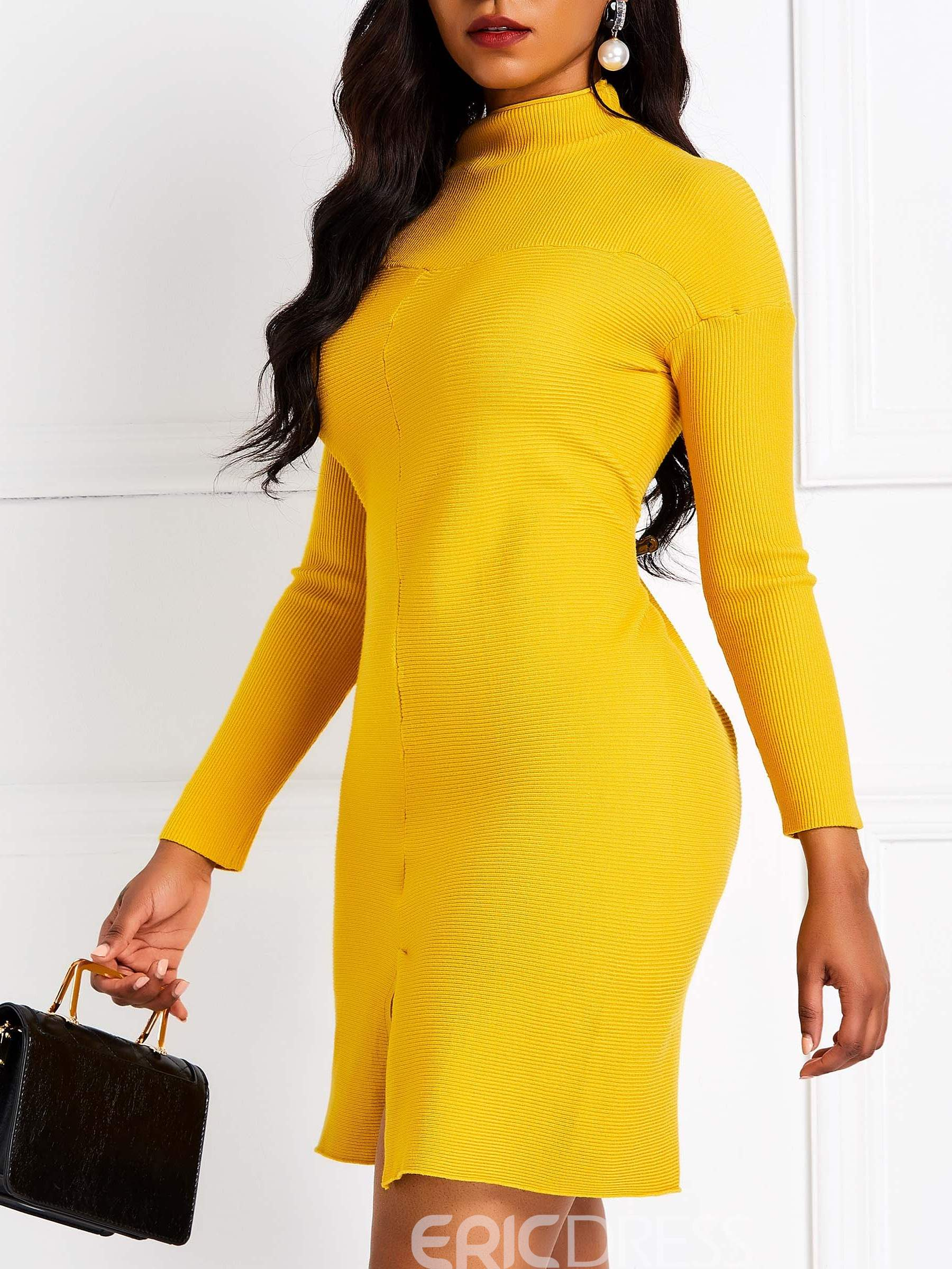 Ericdress Long Sleeves Above Knee Casual Dress