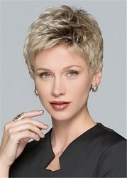 Ericdress Womens Natural Looking Short Pixie Cut Human Hair Lace Front Wigs 6 Inches