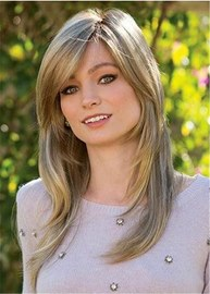 Ericdress Medium Straight Layered Cut Synthetic Capless Wigs 20 Inches