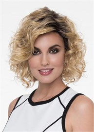 Ericdress Layered Medium Kinky Curly Synthetic Hair Capless Wigs12 Inches