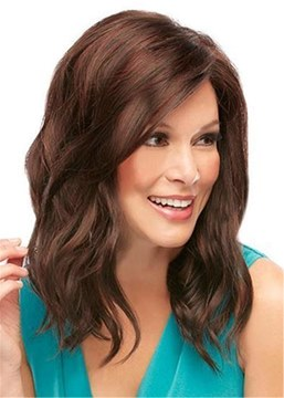 Ericdress Natural Long Wavy Human Hair Capless Wigs 18 Inches