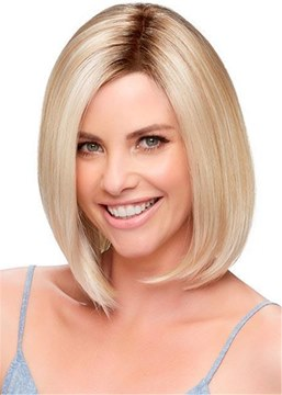 Ericdress Straight Bob Medium Synthetic Hair Capless Wigs 10 Inches