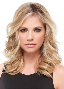 Ericdress Shoulder Length Deep Wave Side Swept Synthetic Hair Capless Wigs 18 Inches