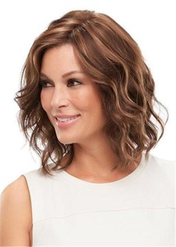 Ericdress Layered Shag Big Curly Hairstyle with Full Fringe Middle Length Synthetic Capless Wigs 10 Inches