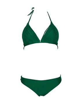 Ericdress Plain Sexy Bikini Set Swimwear