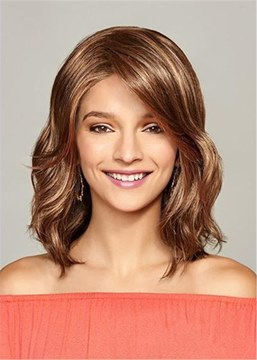 Ericdress Fashion Medium Big Curly Layered Synthetic Hair Capless Wig 14 Inches