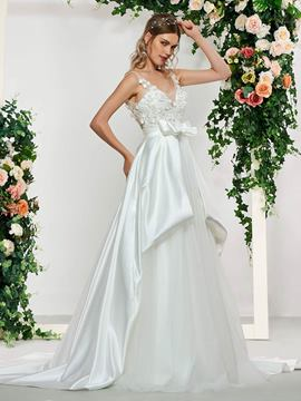 Ericdress Beading Appliques Wedding Dress 2019