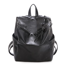 Ericdress Fashion PU Thread Plain Backpacks