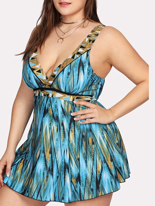 Ericdress Print One Piece Sexy Swimwear