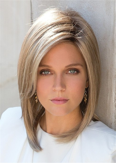 Ericdress Classical Bob Top Quality Natural Straight Medium Synthetic Hair Capless Wigs 10 Inches