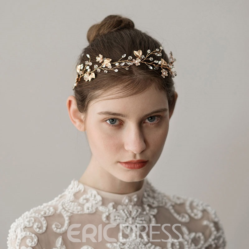 Ericdress Crystal Wedding Leaf Hair Comb