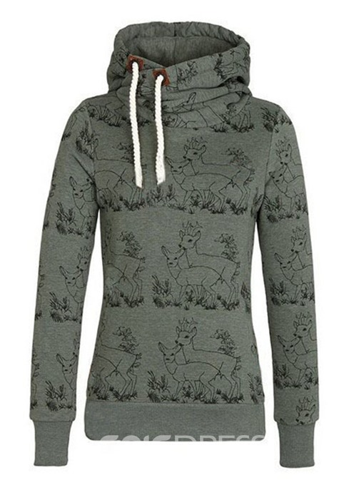 Ericdress Regular Print Fall Long Sleeve Hoodie