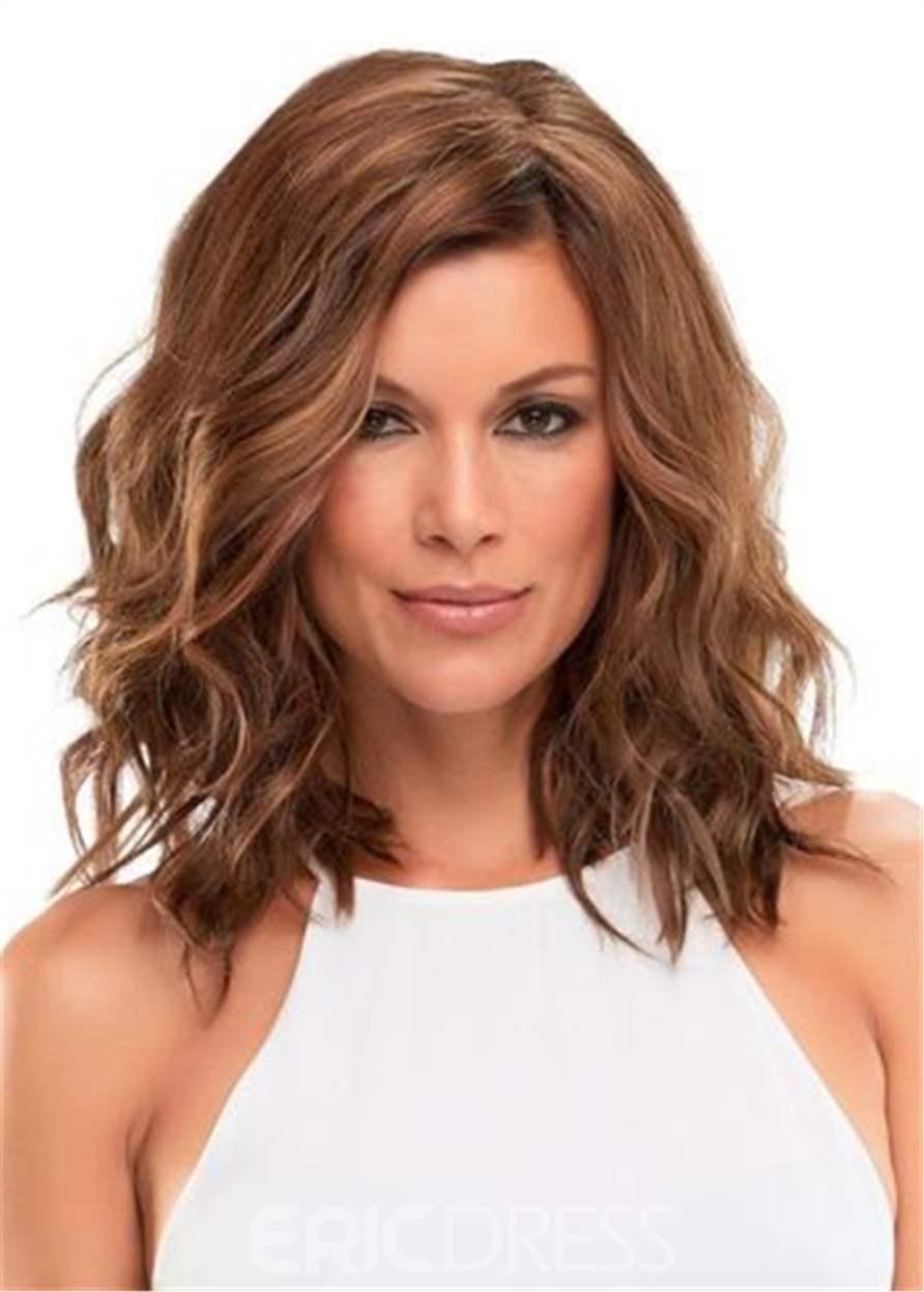 Ericdress Big Curly Layered Hairstyle with Full Fringe Middle Length Synthetic Capless Women Wigs 14 Inches