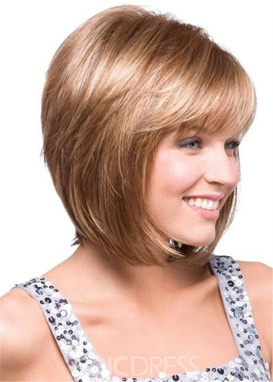Ericdress Short Straight Bob Hairstyle Side Parted Synthetic Hair Capless Wigs 10 Inches
