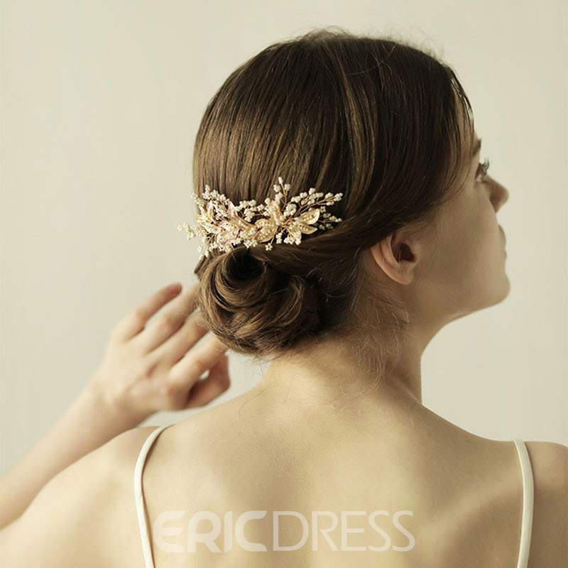 Ericdress Rhinestone Beads Wedding Comb