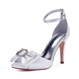 1ed2441ae23c40 ... ericdress bow p toe stiletto heel wedding shoes ...