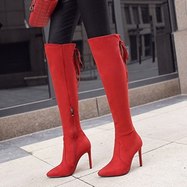 Ericdress Side Zipper Plain Stiletto Heel Women's Knee High Boots